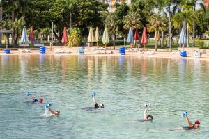 Aqua fitness in the Wave Lagoon - Kempsey Accommodation